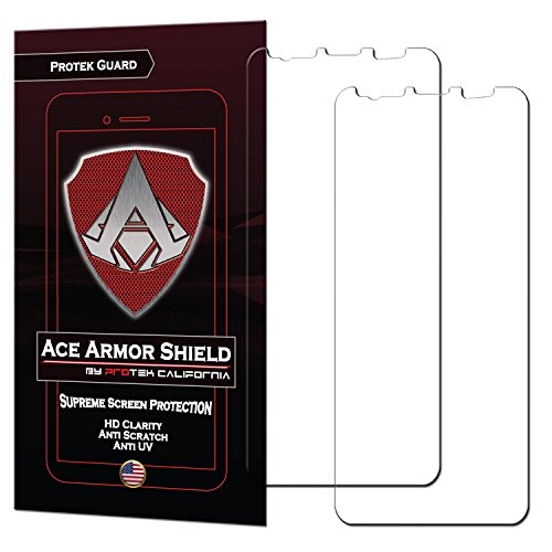 Samsung Galaxy S9 Plus (2-Pack) Ace Armor Shield CASE Friendly Screen Protector Clear Bubble Free Shield with Free Lifetime Replacement
