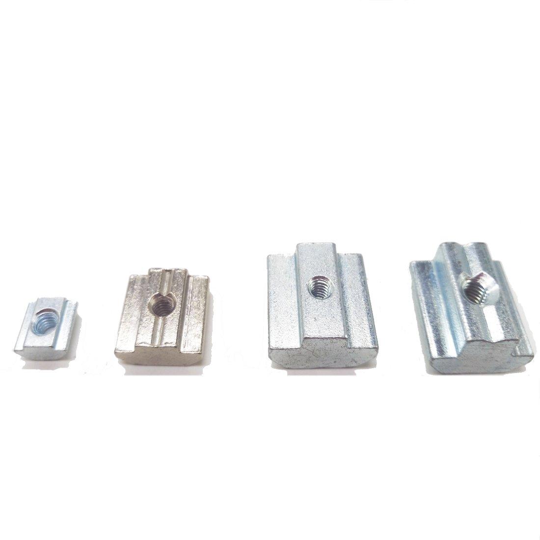 10PCS T Sliding Nut Zinc Coated Plate 45 Series M8 Aluminum Thread Diameter 10MM CNC