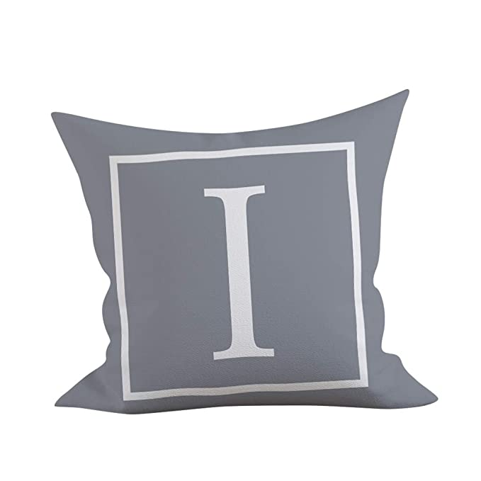 Fashion English Alphabet Pattern Pillowcase,Standard Size (18