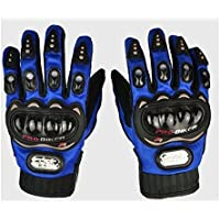 Probiker PROBL01 Leather Motorcycle Gloves (Blue, X-Large)
