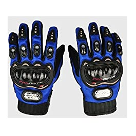 AutoStark Pro Biker Bike Riding Full Gloves (Size,Colour) Variation (XL, Blue)