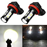 #3: Alla Lighting Super Bright H11 H8 H16 LED Fog Light Bulbs - High Power 50W CREE 6000K White LED Fog Lights Lamp Replacement