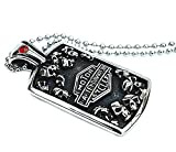 Men's Stainless Steel Necklace Pendant Skulls Head Square Tag 5.32.6cm