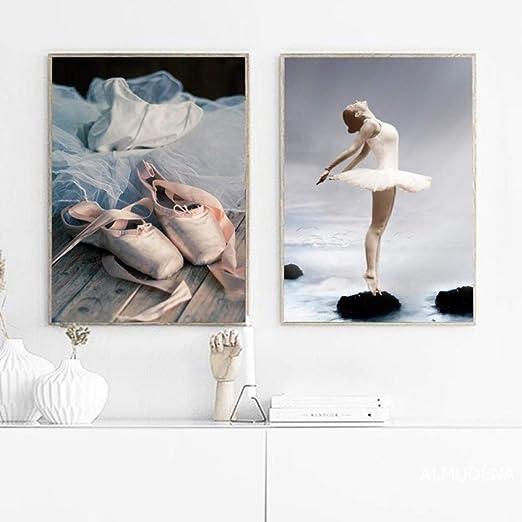 Nordic Elegant Ballet Dance Girl Canvas Wall Art Poster Picture Print Home Decor