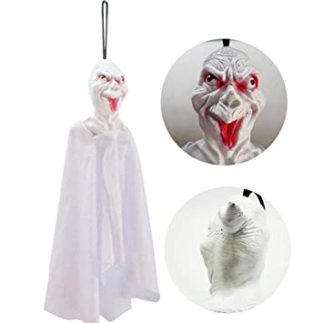 showking 1pcs halloween props paper durable pendant tag for ghost festival ktv bar window wall