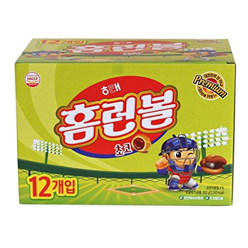 (Choco Home Run Ball, Classic Korean Snack 46g (Pack of 12))