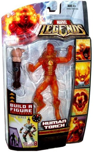 Marvel Legends Exclusive Ares BuildAFigure Wave Action Figure Human Torch Hasbro 78404 NC-B7Y3-JT1O