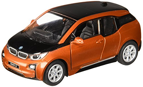 1:32 Scale BMW i3 Electric Car Model (Solar Orange Metallic w/Frozen Grey -