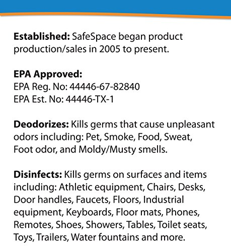 SafeSpace Disinfectant & Deodorizing Germ Fogger - Case of 12 Cans (Clean Scent) by SafeSpace (Image #1)