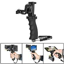 Fantaseal® Ergonomic Action Camera Grip Mount Action Cam Handheld Support Action Camera Selfie Stick w/ Smartphoen Clamp Mount (UP TO 5.7 Inch Screen ) for SONY FDR X-3000V X1000VR HDR AS 300 AS-10 AS-15 AS-20 AS-30 AS-50 AS-100 AS-200 AZ-1 Action Camera Grip Mount , Versatile Action Camera Handheld Grip Micro Movie Shooting System
