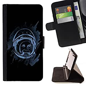 DEVIL CASE - FOR Sony Xperia Z1 Compact D5503 - Space Astronaut - Style PU Leather Case Wallet Flip Stand Flap Closure Cover