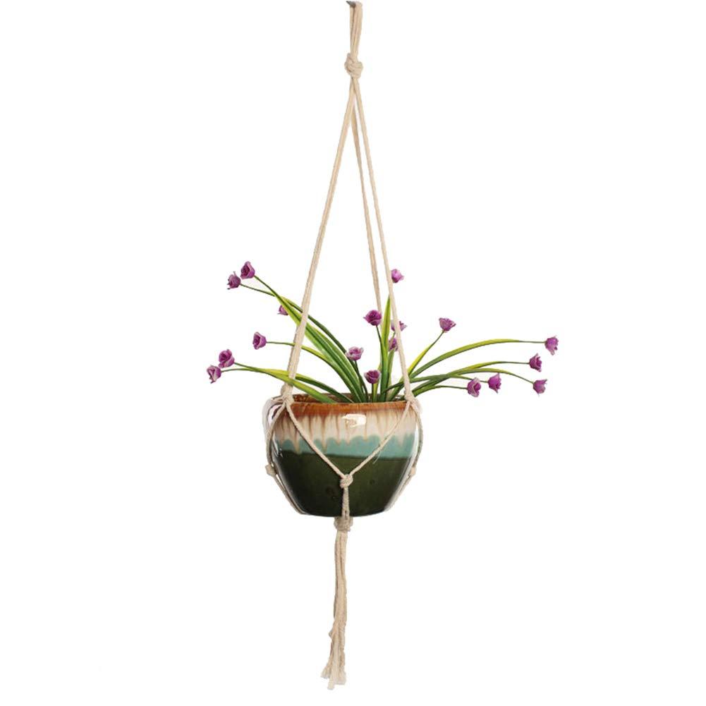 Little rock Plant Hanger Flower Pot Handger Plant Rope Plant Hangers Indoor Outdoor Decorations One Color