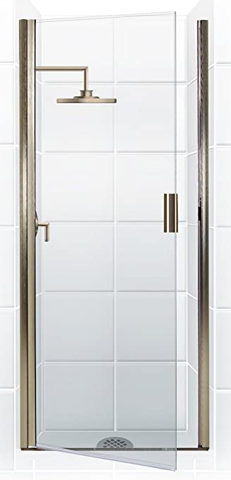 coastal shower doors paragon series continuous hinge shower door in clear glass