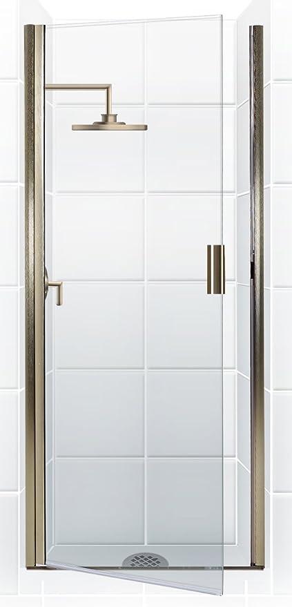 Coastal Shower Doors Paragon Series Semi Frameless Continuous Hinge