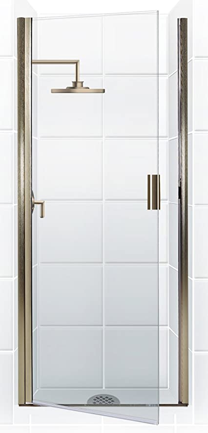 coastal shower doors paragon series continuous hinge shower door in clear glass
