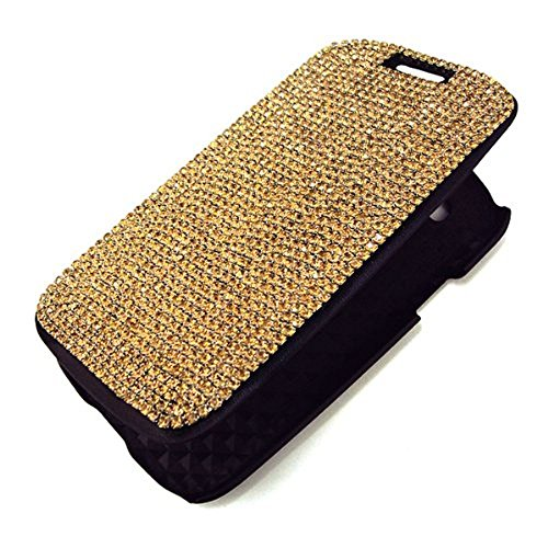 Swarovski Crystal Diamond Bling Pattern Flip Stand Case Cover for Samsung Galaxy S3S