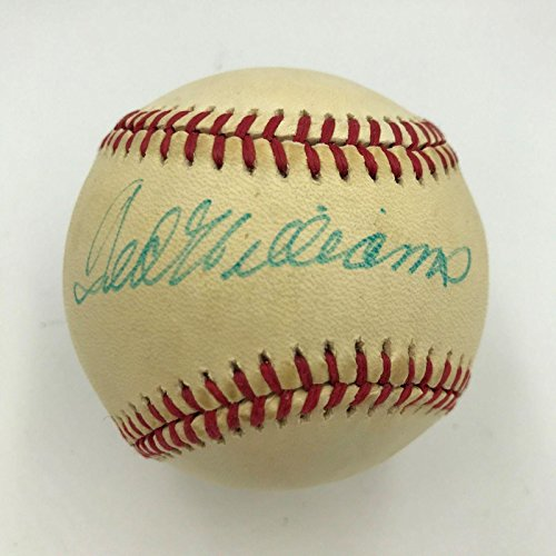 - Signed Ted Williams Baseball - Official American League COA - PSA/DNA Certified - Autographed Baseballs
