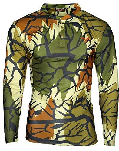 0872a2db Amazon.com : Predator Camo Lightweight Poly Henley Shirt-Spring ...