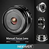 Neewer 28mm f/2.8 Manual Focus Prime Fixed Lens for SONY E-Mount Digital Cameras, Such as NEX3, 3N, 5, 5T, 5R, 6, 7, A5000, A5100, A6000, A6100 and A6300 (NW-E-28-2.8)