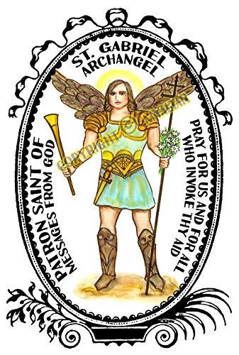 My Altar Archangel Saint Gabriel Patron of Messages from God Art Print