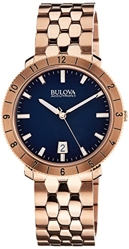 (Bulova Unisex Unisex Accutron II - 97B130 Rose Gold Watch)