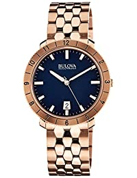 Bulova Men's Accutron Ii 97B130 Rose-Gold Stainless-Steel Quartz Watch with Blue Dial
