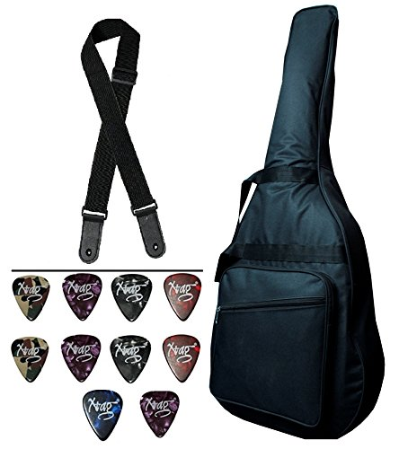 Combo Pack - Mexa Extra Padded Acoustic Guitar Cover Case ( 39'' 40'' 41'') by Mexa