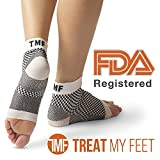 tendinitis feet - Plantar Fasciitis Socks Foot Sleeve & Compression Sock: FDA-Registered Heel Sleeve For Ankle & Arch Support - Edema Relief Orthopedic Socks For Men & Women - Fit Guaranteed By Treat My Feet - S