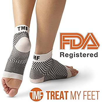 Plantar Fasciitis Socks Foot Sleeve & Compression Sock: FDA-Registered Heel Sleeve For Ankle & Arch Support - Edema Relief Orthopedic Socks For Men & Women ...