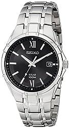 "Seiko Men's SNE215 ""Classic"" Stainless Steel Solar Watch"