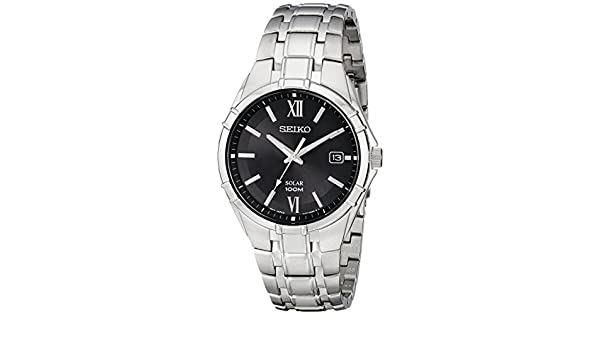 Seiko Watches SNE215 - Reloj de Pulsera Hombre, Acero Inoxidable, Color Plata: Seiko: Amazon.es: Relojes
