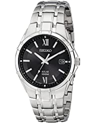 Seiko Mens SNE215 Classic Stainless Steel Solar Watch