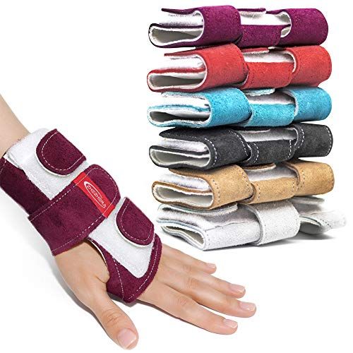 (Zhezhera Tiger Gymnastics Wrist Supports Paws Wraps: Variety of Colors - for Girls, Kids and Child, Professionals Gymnasts and Cheerleaders (Purple S))