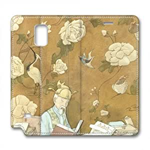 Enjoy happy life Samsung Galaxy Note 4 leather Cases,Ancient scholars Custom Samsung Galaxy Note 4 High-grade leather Cases