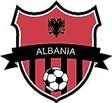 Albania Flag National Soccer Team Home Decal Vinyl Sticker 13'' X 12''