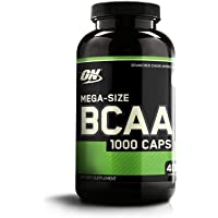 Optimum Nutrition BCAA 1000 Branch Chain Amino Acids with L-Leucine, L-Isoleucine and L-Valine. BCAA supplement by ON - Unflavoured, 200 Servings, 400 Capsules