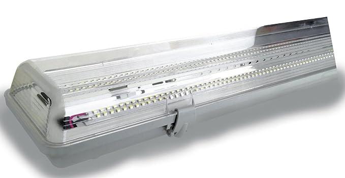 Plafoniere Led Per Capannoni : Cristalrecord 55 208 09 650 plafoniera stagna led 18 w luce