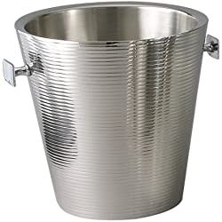 Elegance Lines 9-Inch Stainless Steel Doublewall Champagne Bucket