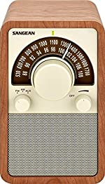 Sangean WR-15WL AM/FM Table Top Wooden Radio, Walnut