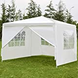 Tangkula 10'x10′ Canopy Party Wedding BBQ Tent Heavy Duty Gazebo Shelter Pavilion Cater Event Outdoor with Side Walls