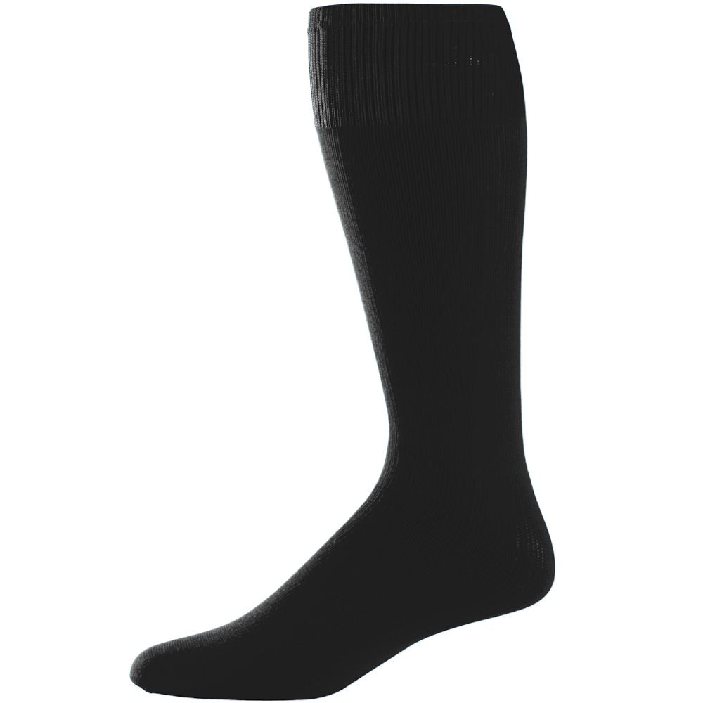 Augusta Sportswear 6021 Youth Game Socks BLACK 3 PACK