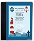 Rikki Knight To My Most Wonderful Father In Law Nautical Lighthouse Design Poem Notebook Portfolio Faux Suede (Notebook Included)