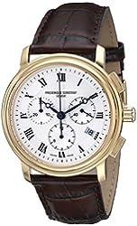 Frederique Constant Men's FC292MC4P5 Persuasion Brown Strap Chronograph Watch