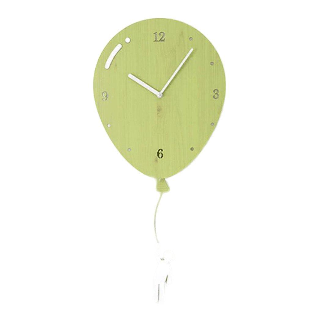 Unbekannt Persönlichkeit Dekoriert Wanduhr Kinderzimmer Kindergarten Schule Schlafzimmer Büro Wohnzimmer Cartoon Ballon Form UOMUN (Farbe : B)