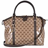 Gucci Women's GG Guccissima Crystal Line Coated Canvas Large Dome Purse