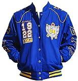 Big Boy Headgear Sigma Gamma Rho Sorority Womens Twill Jacket Blue (4XL)