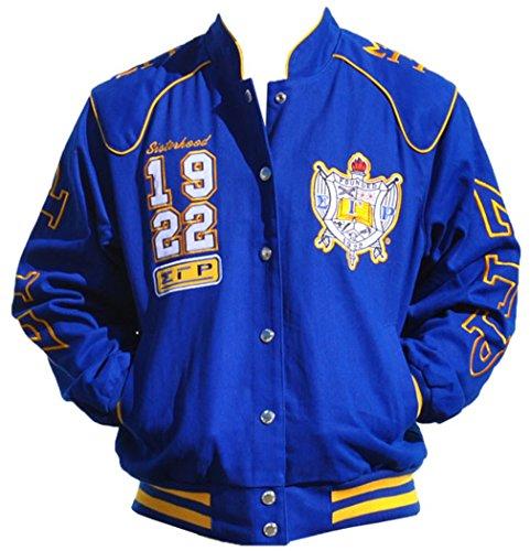 Big Boy Headgear Sigma Gamma Rho Sorority Womens Twill Jacket Blue (4XL) by Big Boy Headgear