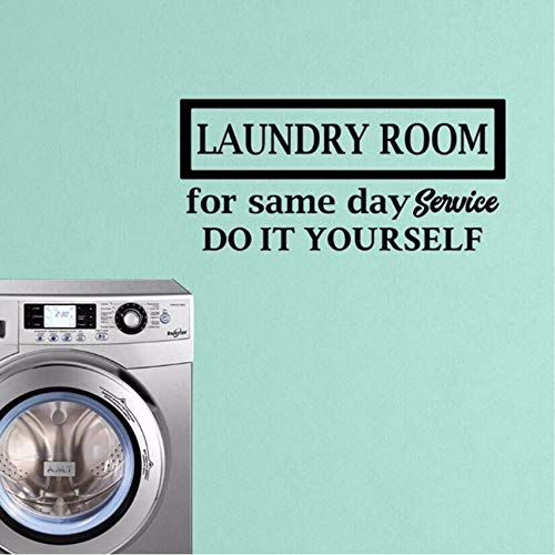 fushoulu 57X27Cm Wall Decal Laundry Room Service Wallpaper