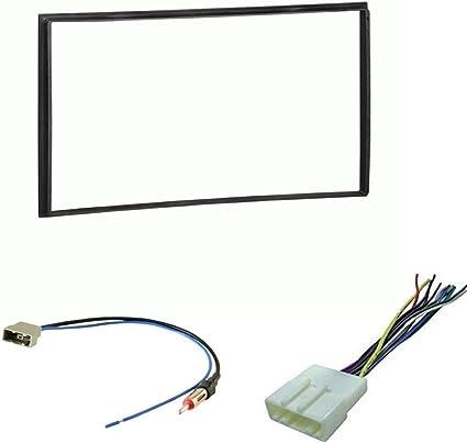 ASC Kit de instalación de tablero estéreo para coche, arnés de cable y adaptador de antena para instalar una radio de repuesto de doble DIN para ...