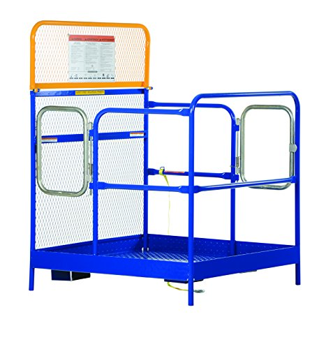 Vestil-WP-4848-DD-Steel-Work-Platform-48-x-48-with-Double-Doors-1000-lb-Capacity-Powder-Coat-Blue